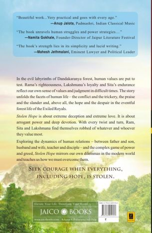 Ramayana - The Game of Life - Stolen Hope, Book 3 by Shubha Vilas Back Cover