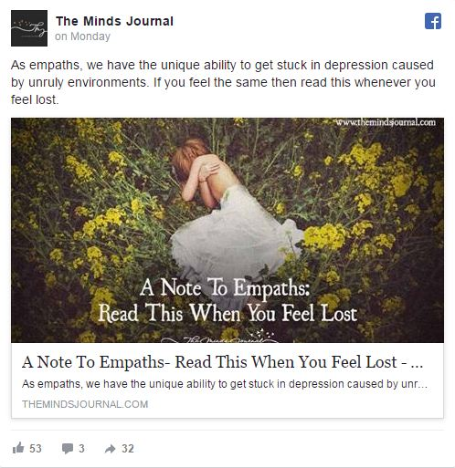 Screenshot of their article on Empath