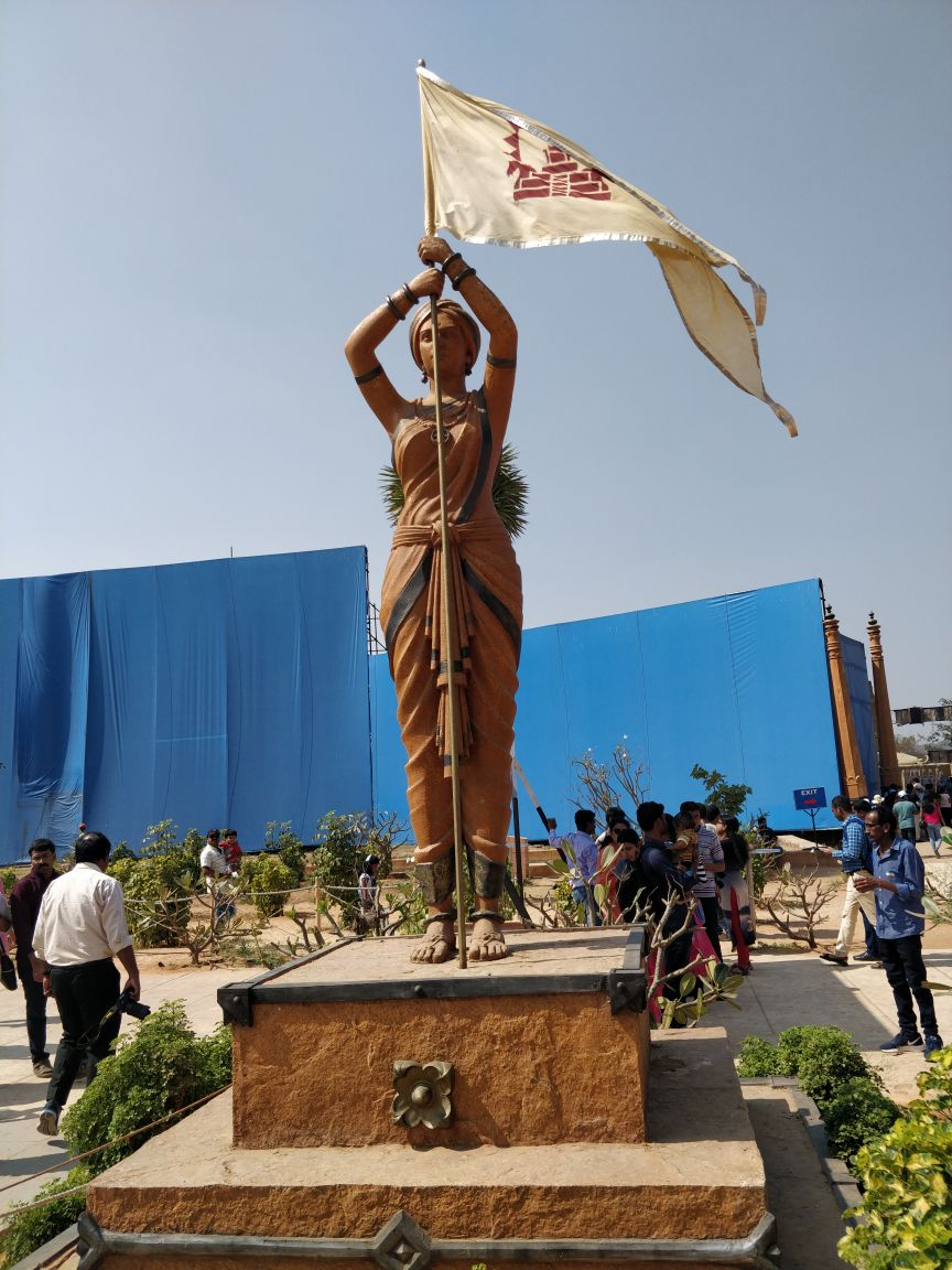 One of the most beautiful statues at the Bahubali set