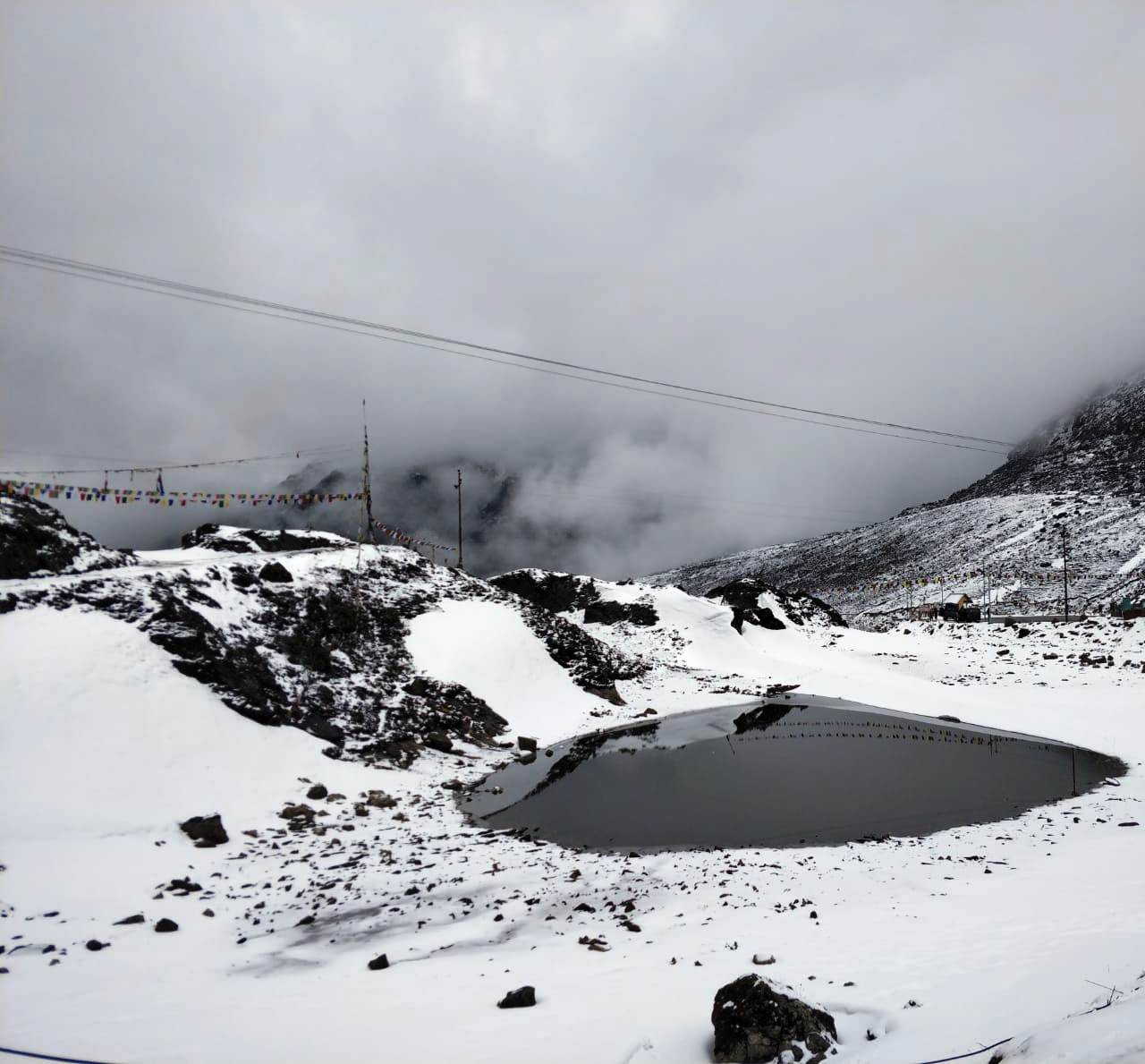 Near Snow clad Sela Pass - Tawang